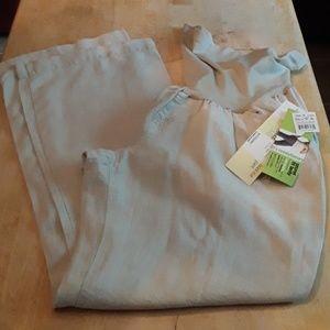 NWT- Motherhood boot cut 100% linen pants